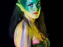 Body paint - Ninfa de Otoño (Foto por entrepixels.com)