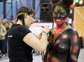 Body paint - Mariposa (Fotos por entrepixels.com)
